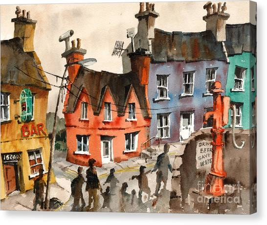Dilapidation Canvas Print - Cork   Eyeries  Going To Mass In Ireland by Val Byrne