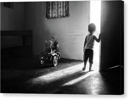 Going To Play Canvas Print by Ivan Valentino