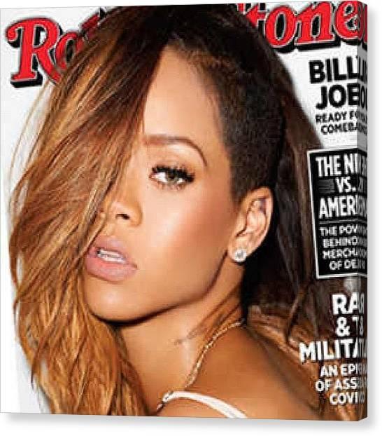 Rihanna Canvas Print - Going To See Rihanna In October by Joyks Rickards