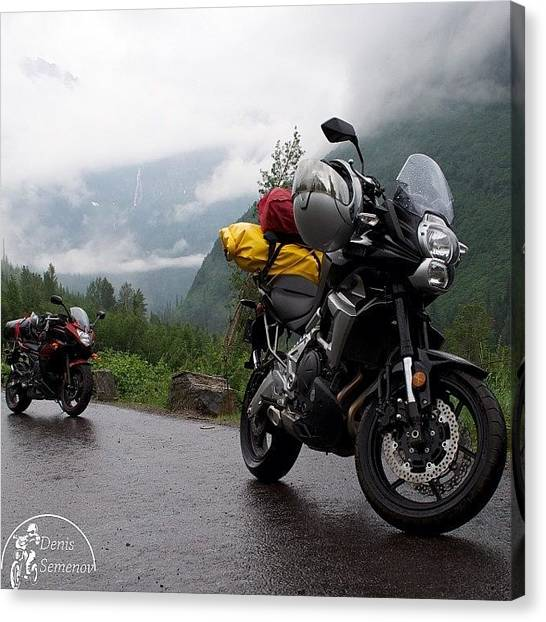 Yamaha Canvas Print - Going-to-the-sun Road. #usa #montana by Denis Semenov