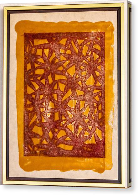 Gold And Maroon Canvas Print