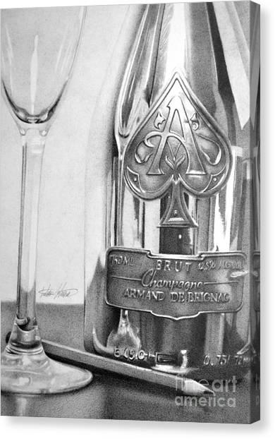 Gold Bottle Canvas Print by Anthony Johnson