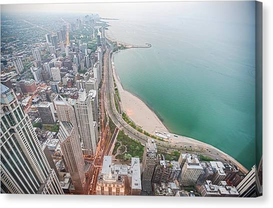 Gold Coast Of Chicago Canvas Print