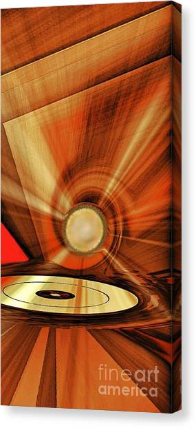 Canvas Print featuring the photograph Gold Disk by Eleni Mac Synodinos