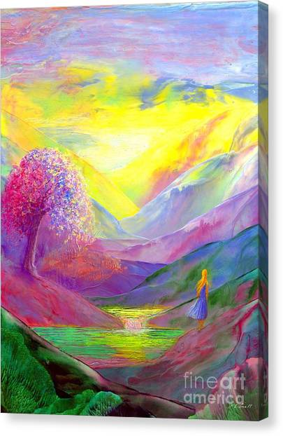 Sympathy Canvas Print - Gold Horizons by Jane Small