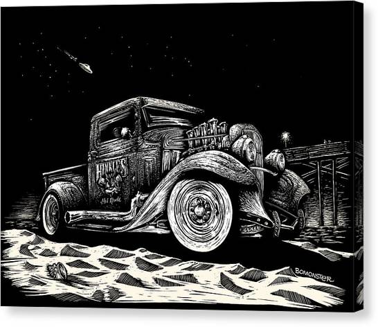 Ford Truck Canvas Print - Gold Rush Ufo by Bomonster