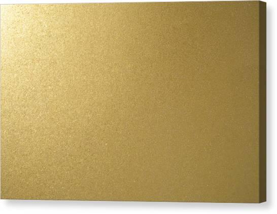 Gold Texture Background Canvas Print by Katsumi Murouchi