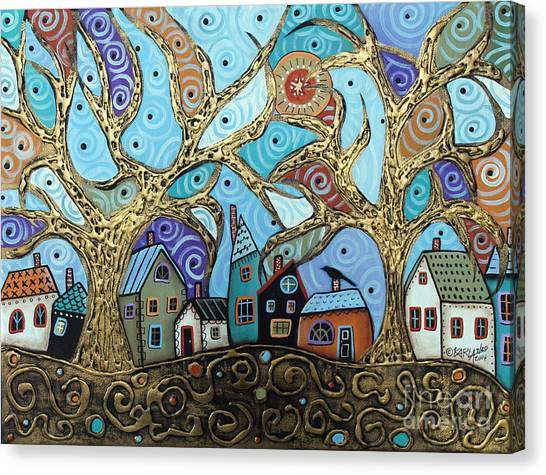 G Canvas Print - Gold Trees by Karla Gerard
