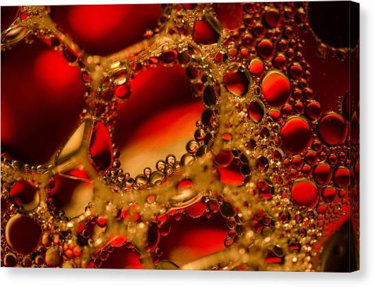 Gold With Red Rubies Canvas Print