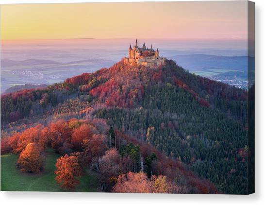 Medieval Canvas Print - Golden Autumn Evening by Daniel F.