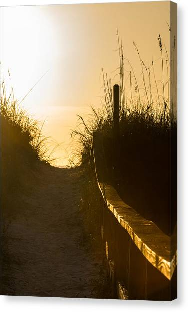 Golden Beach Access Canvas Print