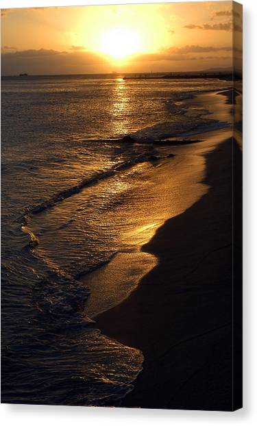 Golden Beach Canvas Print