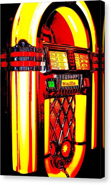 Jukebox Canvas Print - Golden by Benjamin Yeager