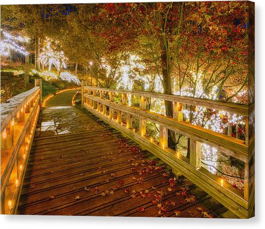 Golden Bridge Canvas Print