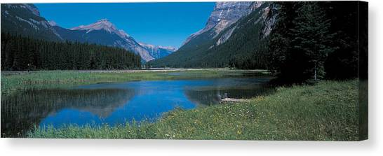 Mountainscape Canvas Print - Golden British Columbia Canada by Panoramic Images