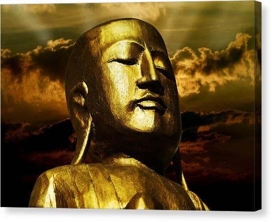 Compose Canvas Print - Golden Buddha by Joachim G Pinkawa