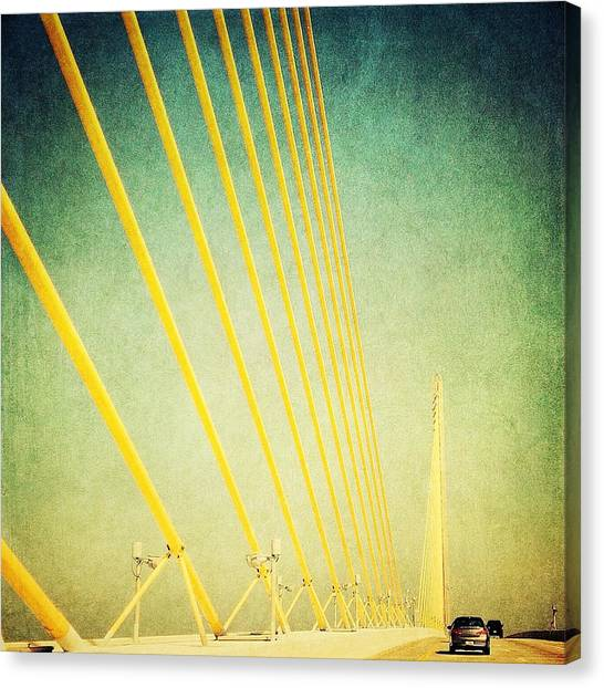 Golden Cables Canvas Print by Beth Williams