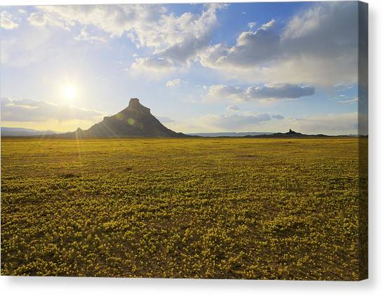 Desert Sunset Canvas Print - Golden Desert by Chad Dutson
