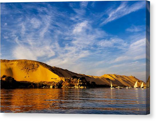 The Nile Canvas Print - Golden Desert Sands Of The Sahara In Egypt by Mark E Tisdale