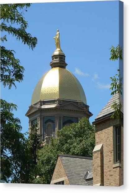 Notre Dame University Canvas Print - Golden Dome Notre Dame by Connie Dye