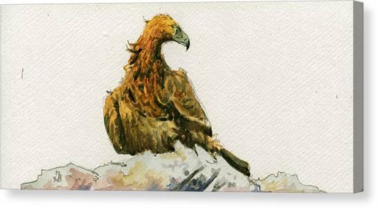Golden Eagle Canvas Print - Golden Eagle Aquila Chrysaetos by Juan  Bosco
