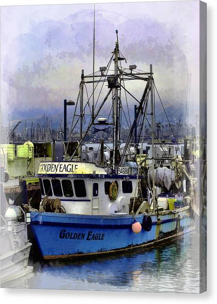 Golden Eagle Fishing Boat Canvas Print