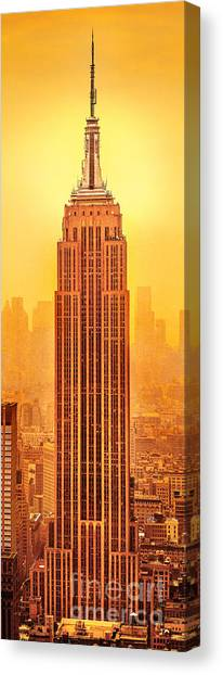 Empire State Building Canvas Print - Golden Empire State by Az Jackson