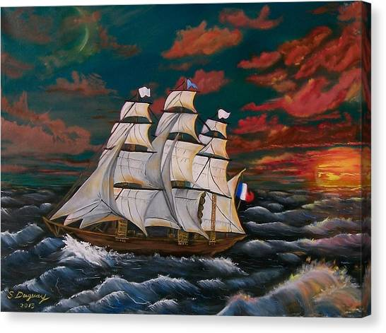 Golden Era Of Sail Canvas Print