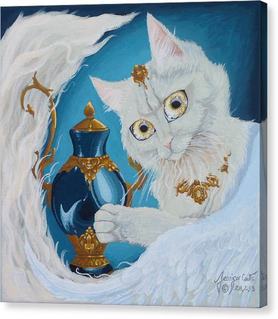 Golden Eyed Angel Bast Cat  Canvas Print by Jennifer  Anne Esposito