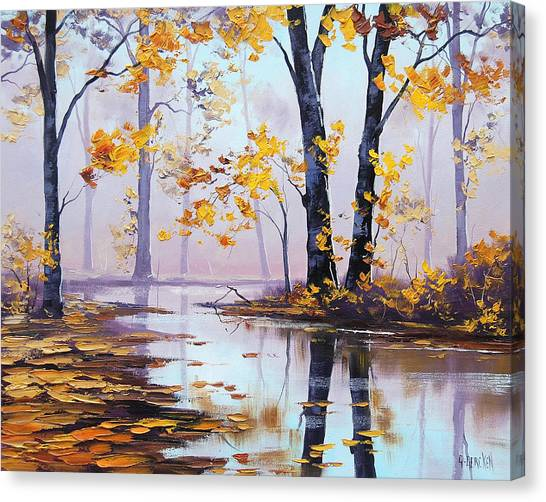 Amber Canvas Print - Golden Fall by Graham Gercken