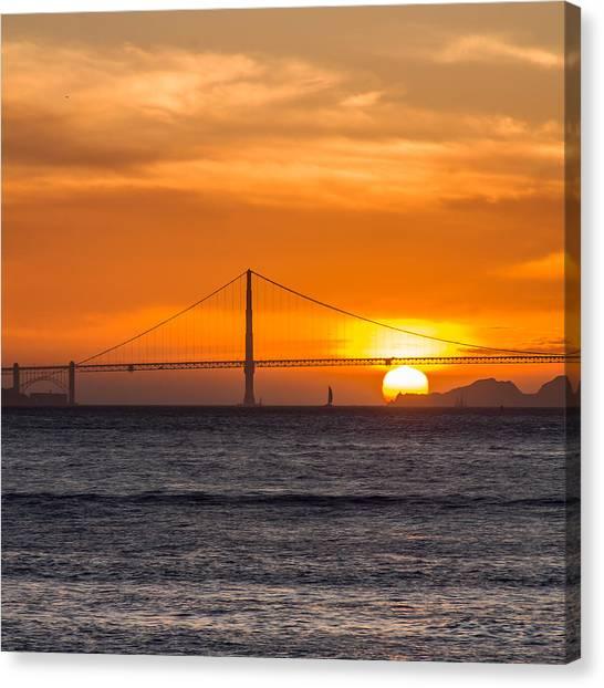 Golden Gate - Last Light Of Day Canvas Print