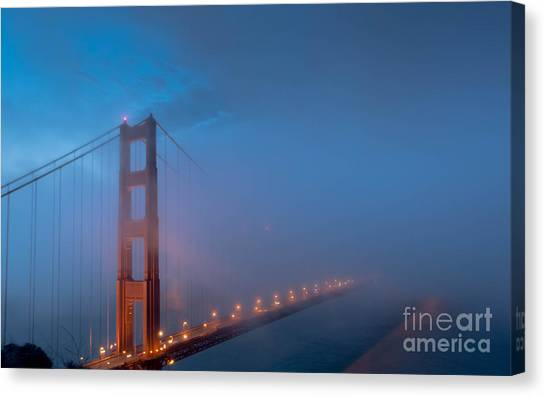 Golden Gate At Blue Hour Canvas Print