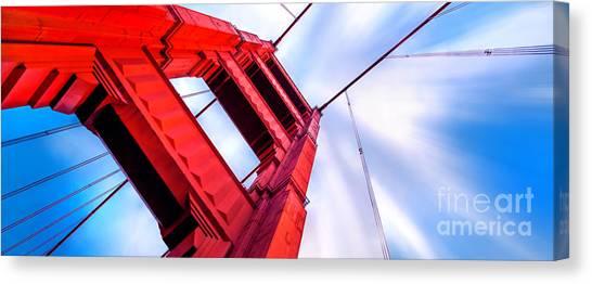 Explosion Canvas Print - Golden Gate Boom by Az Jackson