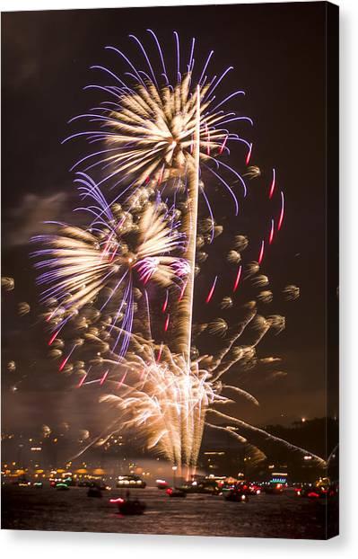Golden Gate Bridge 75th Anniversary Fireworks 10 Canvas Print