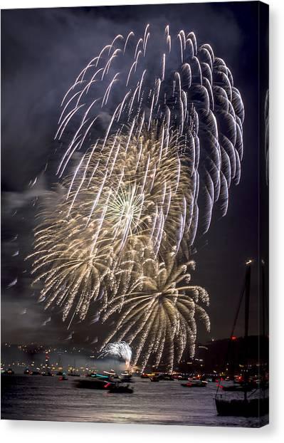 Golden Gate Bridge 75th Anniversary Fireworks 15 Canvas Print