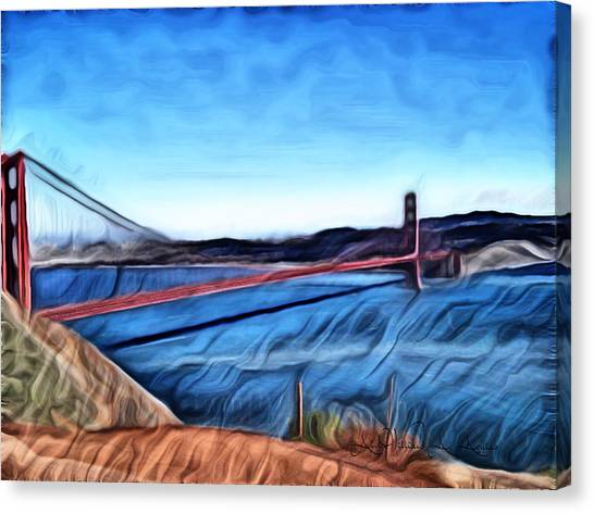 Windy Day At Golden Gate Bridge Canvas Print