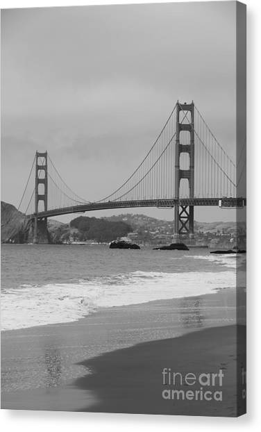 Canvas Print - Golden Gate Bridge And Beach by Christiane Schulze Art And Photography
