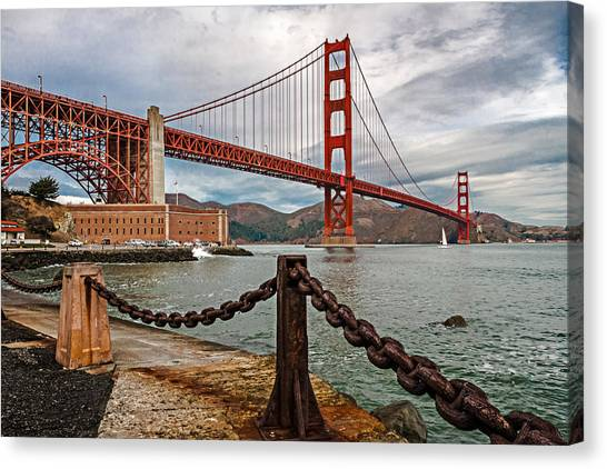Golden Gate Bridge And Fort Point Canvas Print