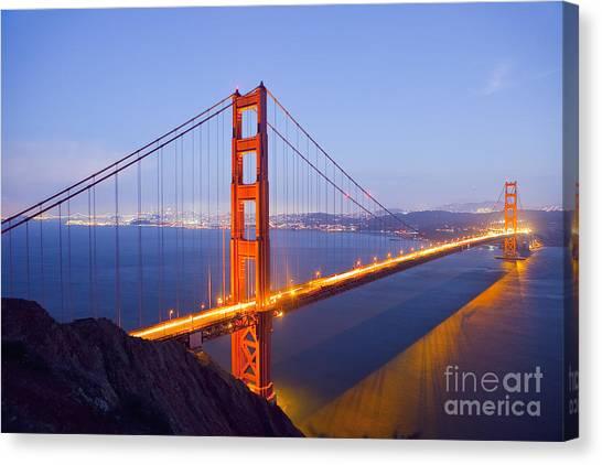 Golden Gate Bridge At Dusk Canvas Print
