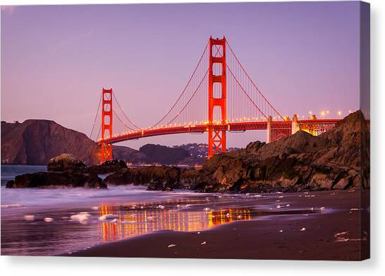 Golden Gate Bridge From Baker Beach Canvas Print