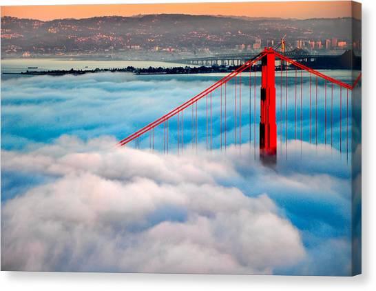 Golden Gate Bridge In Fog Canvas Print