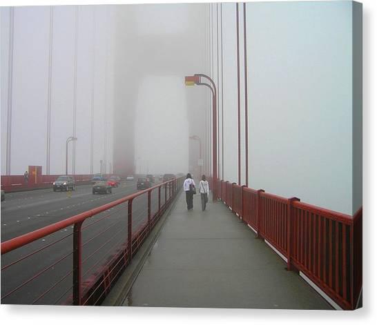 G. G. Bridge Walking Canvas Print
