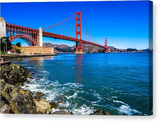 Marin County Canvas Print - Golden Gate Bridge San Francisco Bay by Scott McGuire