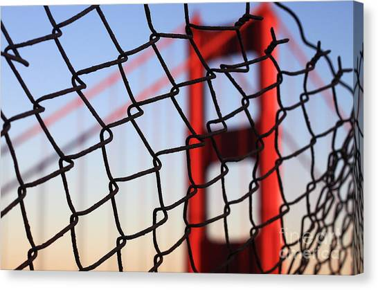 Golden Gate Bridge Through The Fence Canvas Print