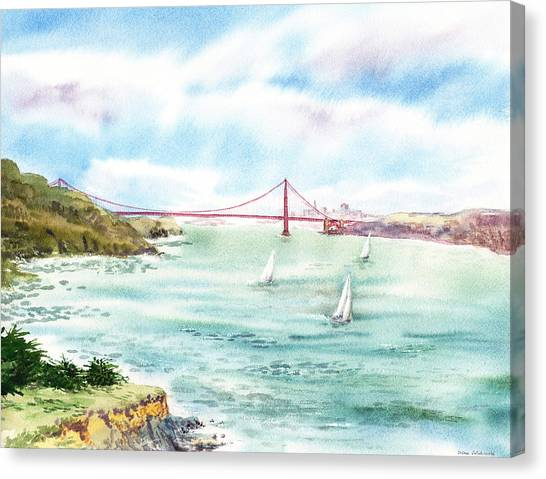 Golden Gate Bridge View From Point Bonita Canvas Print