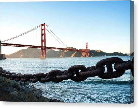 Golden Gate Bridge With Chain Canvas Print