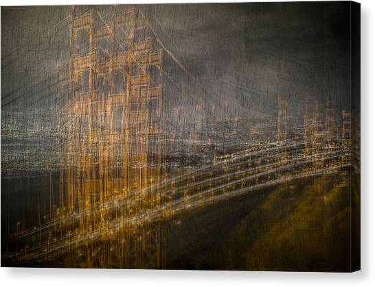 Golden Gate Chaos Canvas Print