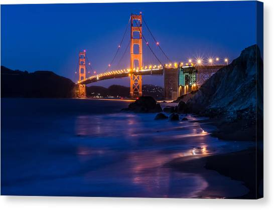 Golden Gate Glow Canvas Print