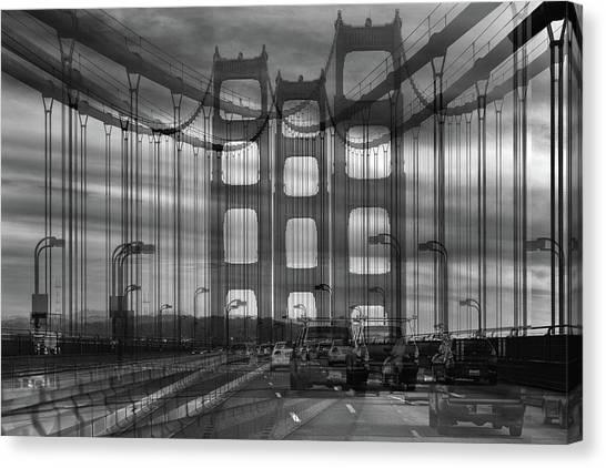Gates Canvas Print - Golden Gate by Jois Domont (