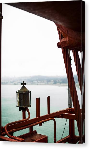 Golden Gate Lantern Canvas Print by SFPhotoStore
